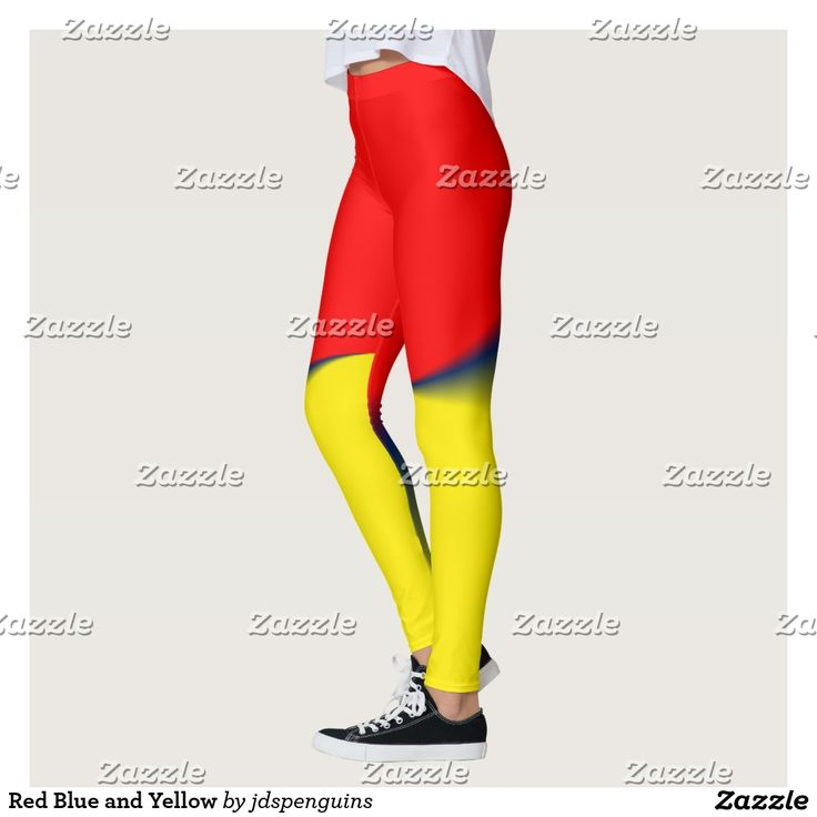 Red Blue and Yellow Leggings