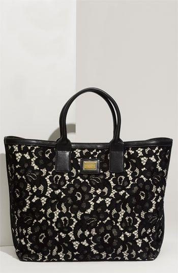Dolce&Gabbana 'Miss Alma Lace' Lambskin Leather Tote