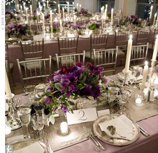 Purple And Gray Table Settings I Think I Like The