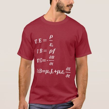 maxwell maths physics equation T-Shirt - tap, personalize, buy right now!
