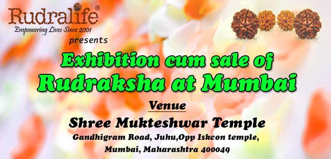 Rudralife Exhibition cum sale of Rudraksha at Shree Mukteshwar Temple, Mumbai