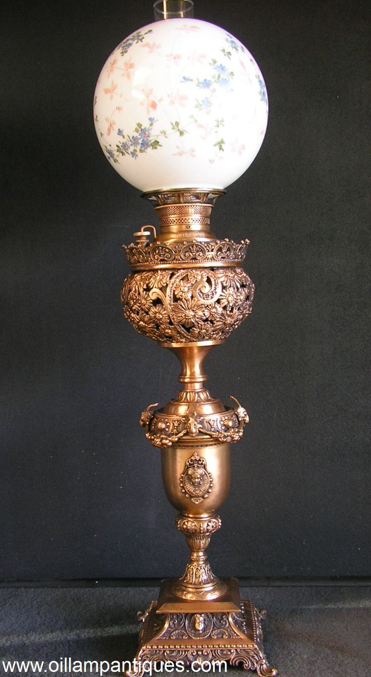 Regent antiques lights antique victorian oil lamp c 1860 - The Detail In This Antique Banquet Oil Lamp Is Quite Exceptional With Intricate Floral Patterns