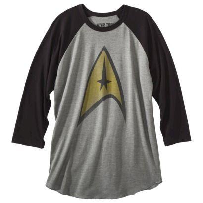 Star Trek Men's Raglan Graphic Tee - Grey...once a Trekie always a Trekie!!
