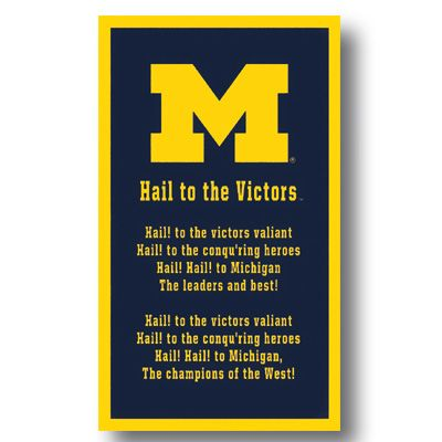 Michigan Wolverines Hail to the victors | ... University Michigan Banner-Fight Song ''Hail to the Victors'' - MDen