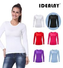 2015 low MOQ wholesale blank long sleeve cotton spandex women t shirt  best buy follow this link http://shopingayo.space