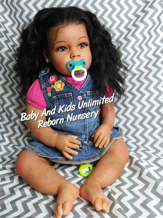 Aa Reborn Toddler Baby African American Biracial Custom