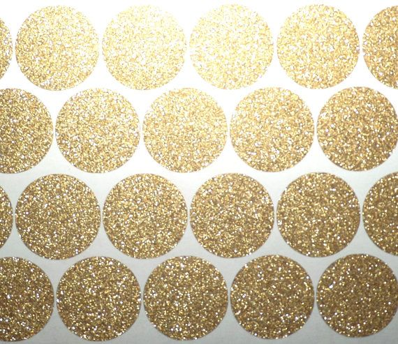 Removable wallpaper 80 Gold Glitter polka dots stickers, gold glitter Christmas stickers, gold envelope seal, glitter party decorations
