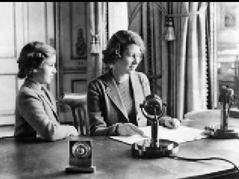 On this day 13th October, 1940, Princess Elizabeth's first ever radio broadcast aged 14 to evacuated children (now Queen Elizabeth II) Children's Hour Broadcast