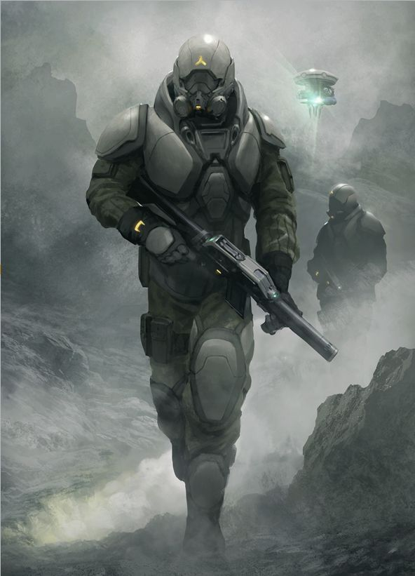 Artist: Geoffroy Thoorens aka djahal - Title: Soldier of the poison planet - Card: Biodroid Reserve Unit