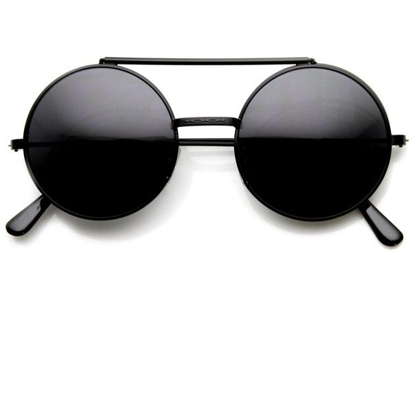 Steampunk Vintage Inspired Retro Round Circle Flip Up Sunglasses 8795 (515 PHP) ❤ liked on Polyvore featuring accessories, eyewear, sunglasses, vintage style sunglasses, flip sunglasses, metal sunglasses, retro sunglasses и round glasses