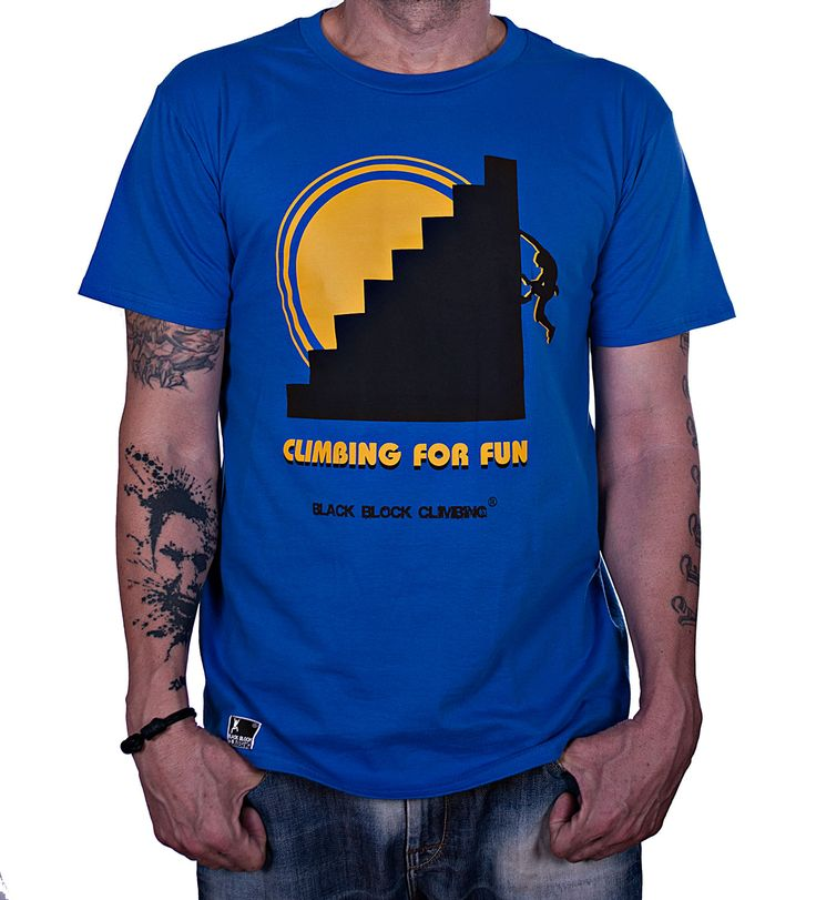 Camiseta Climbing for Fun by Black Block Climbing http://www.blackblockclimbing.com/#!camisetas/c1yc2