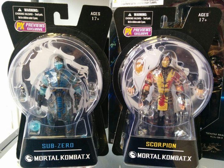 Mezco Mortal Kombat X Sub Zero and Scorpion PX variants.