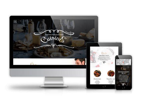 The split screen. <3 <3 <3 Cuisine - WordPress restaurant theme by Ordasoft  on @creativemarket