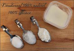 ☼ ► Déo crème naturel coco ◄☼    •2cs d'huile de coco (quelques fois moins chère à la biocoop qu'en ligne ou au rayon bio des hyper) .. •1 cs de fécule de maïs ............. •1 cs + 1 cc de bicarbonate de soude (au rayon sel et épices de votre supermarché)  .................... • quelques gouttes d'HE (huile essentielle) de votre choix