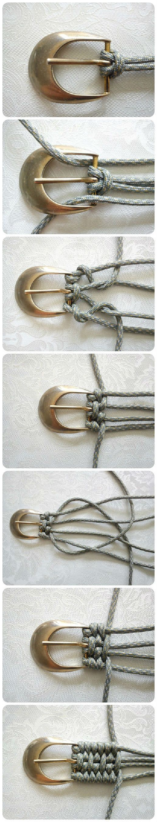 Как сплести ремень (Duy) LL: This seems to be in Russian, and the photo guide doesn't show how to finish, but what a neat idea!