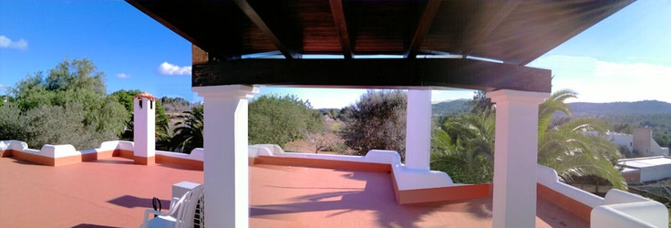 Probaly to hot during the summer time, our roof terrace. Over 150 square meters. Enough space for you and your family.   Our tip is to go there during the sunset. You will be able to see the famous Ibiza sunset from here.
