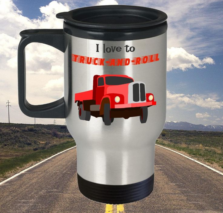 Funny Thermal Trucker Travel Mug, Trucker Gift, 14oz, Stainless Steel by PortunaghDesign on Etsy
