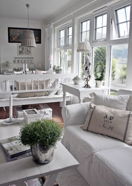 why am I so fond of white?  It is cool, crisp, clean, airy, and has freedom galore to add a special color or two to enhance it.