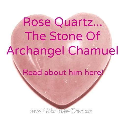 Rose Quartz...the stone of Archangel Chamuel. Read about it here! www.woowoo-diva.com/archangel-chamuel.html