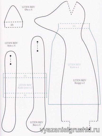 Шьем лисичку Автор: Елена Брежнева - Пошив игрушек.Выкройки