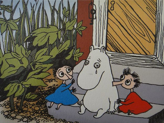 'I only want to live in peace and plant  potatoes and dream!' The magical Moominvalley of Tove Jansson's imagination contains all you need to know for life.