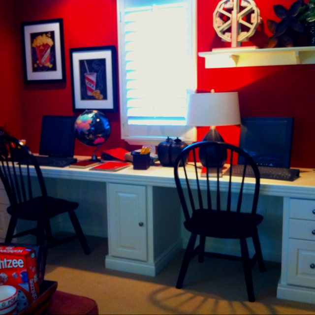 Man Cave Entertainment Center Ideas : Study area from model home i want a built in like this