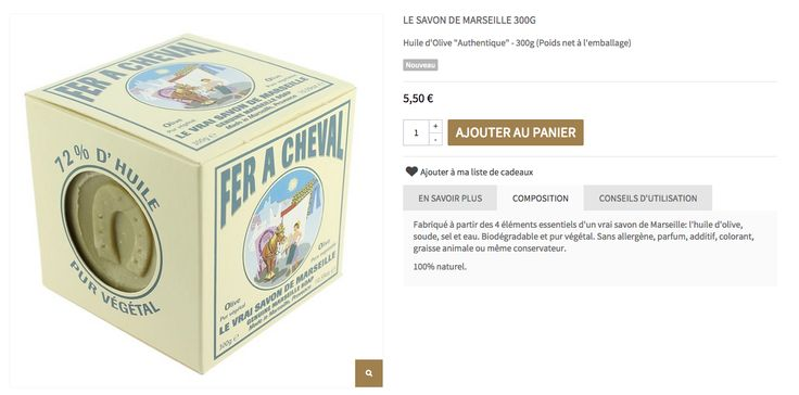 La composition du savon de Marseille de la savonnerie Fer à Cheval : trop beau pour être vrai ?