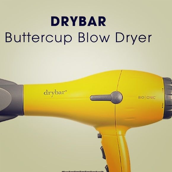 Drybar hair dryer buttercup drybar blow dryer. Besides the external scratch marks as show, works like a charm. Dries hair quicker and healthier. Have two, time to get rid of this one. Please ask any questions before purchasing. Note- have discounted the price to reflect scratches. Also, I do not have the original box. Comes with the original two nozzles. drybar Accessories Hair Accessories