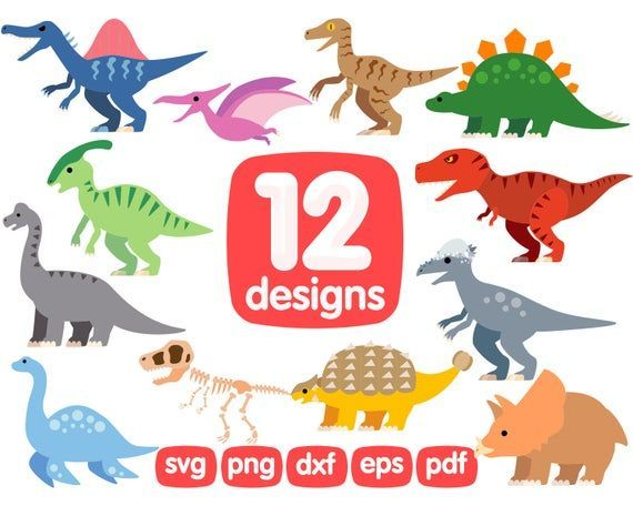 Dinosaurs Clipart Dinosaur Svg Dino Clipart Dinosaur Png Etsy Clip Art Svg Dinosaur Silhouette