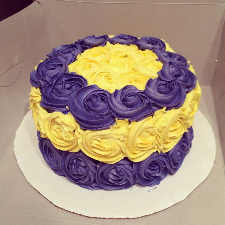 purple birthday cake purple and gold rosette birthday cake lsu geaux tigers 6881