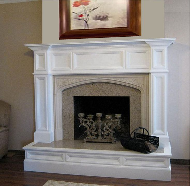 Oxford Wood Fireplace Mantel Custom Traditional Flats