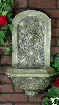 An Ornate Wall Fountain, Offered In Multiple Finishes, Which Will Bring A  Touch Of
