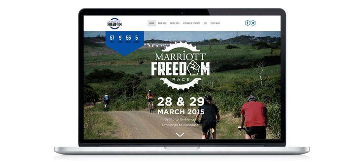 Marriott Freedom Race: Responsive Website Design, Development and Management by Electrik Design Agency www.electrik.co.za