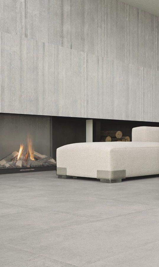 Porcelain stoneware wall/floor tiles with concrete effect CEMENTO by Casalgrande Padana @Casalgrande Padana