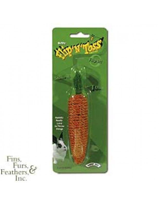 Super Pet Bunny Flip-N-Toss Sisal Rope Toy for Rabbits , Carrot