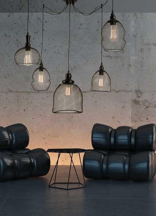 Φωτιστικό κρεμαστό πολύφωτο (πεντάφωτο), σε μοντέρνο στυλ, κατασκευασμένο από ατσάλι σε πλέγμα σε διάφορα σχέδια σε μαύρο χρώμα. Από την Zambelis Lights. ------------------------------------------- Pendant light, in modern/industrial style, made of steel in grid, in various designs, in black color. #blacklove #industrialdecor #livingroomideas #livingroom #modern #livingroomdecor #decoratingideas #decorating #ideas #tips #homeideas #homeimprovement