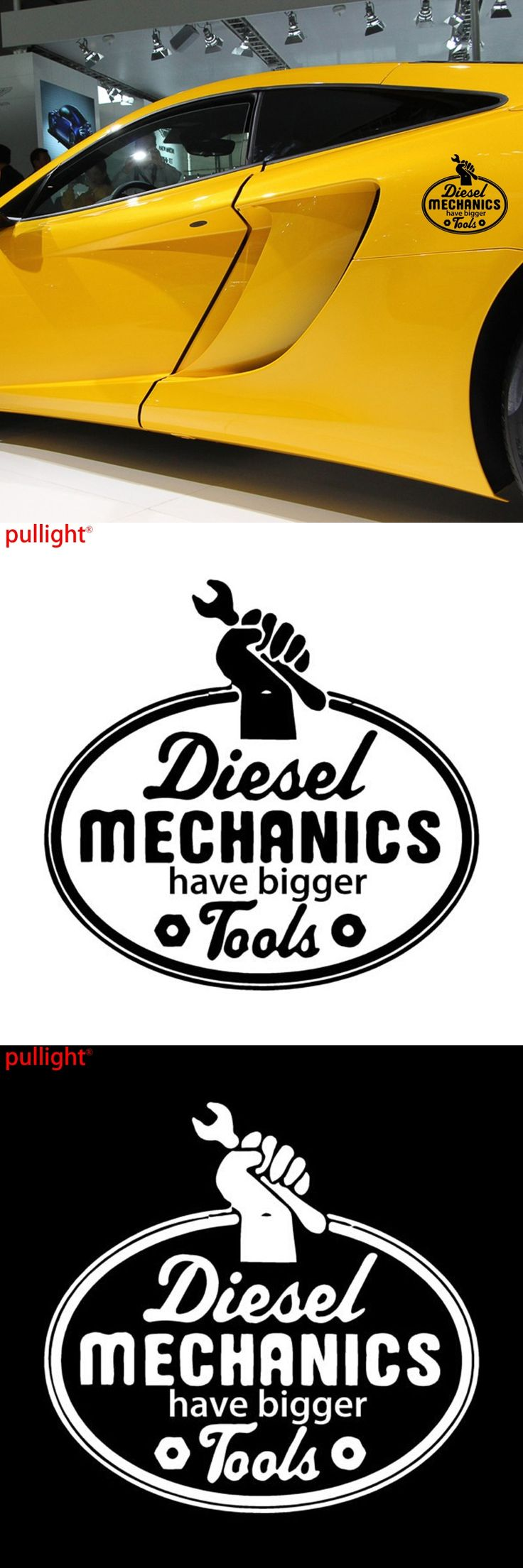 15cm*14cm Creative Fashion Diesel Mechanics Have Bigger Tools Body Stickers