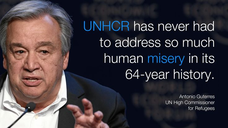 #UNHCR has never had to address so much human misery in its 64 year history. - Antonio Guterres in #Davos at #wef15