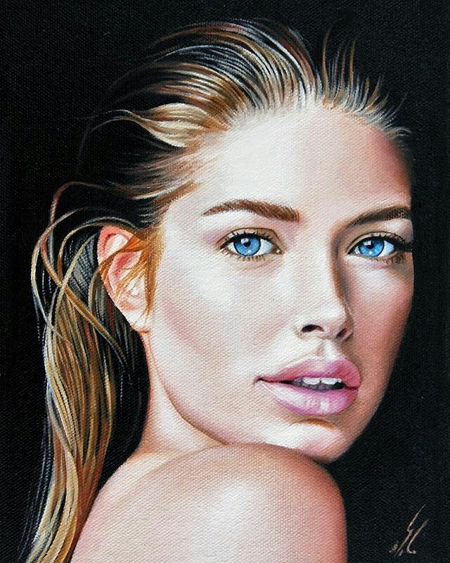 "WANT A SHOUTOUT ?   CLICK LINK IN MY PROFILE !!!    Tag  #DRKYSELA   Repost from @maryam_moayed_alaei   My new painting ""Doutzen Kroes""  oil painting on linen board  size 2516cm  well  I have been doing black&white dry brush technique drawings for a while and I missed my oil painting technique badly so decided to have one again :) Hope you like it and thanks a lot  for your support…"