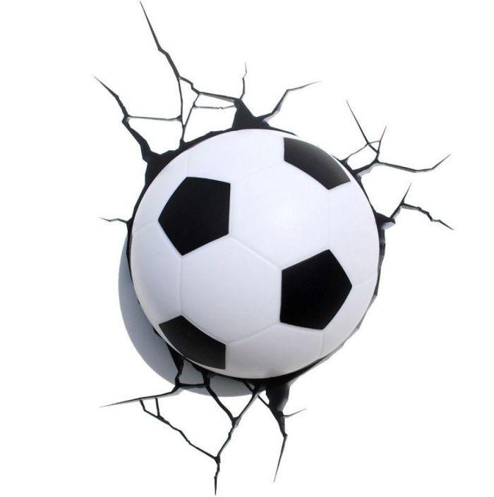 3D Fussball Lampe bringt Licht ins Dunkle | DerTypvonNebenan.de
