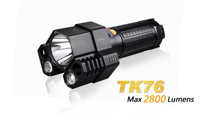 The Fenix TK76 Flashlight utilizes three separate LEDs to offer a broad range of illumination options and power display function. Output up to 2800 lumens creates intense area lighting combined with long reach. Ideal for group leaders needing high output and multiple beam patterns, the Fenix TK76 is a powerful addition to a team's onsite lighting tools with instant turbo, strobe and SOS. #hidcanada