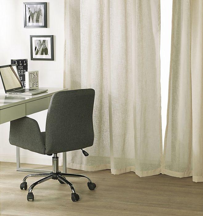 ¡Dale claridad a tus ambientes con cortinas de colores que permitan el ingreso de la luz! #Cortinas #Decor #Escritorio #Homecenter #Sodimac