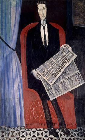 Portrait of a Man With a Newspaper - André Derain