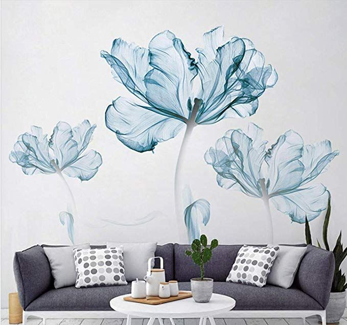 Derun Trading Wall Stickers Murals Home Decor Home Decor Accents For Living Room Flower Wall De Wall Decals Living Room Large Wall Stickers Large Wall Decals
