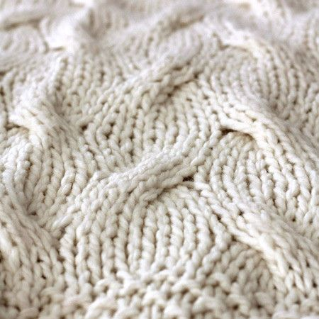 Our inspiration: chunky knit, like in this cable knit throw. Image via: Joss and Main.