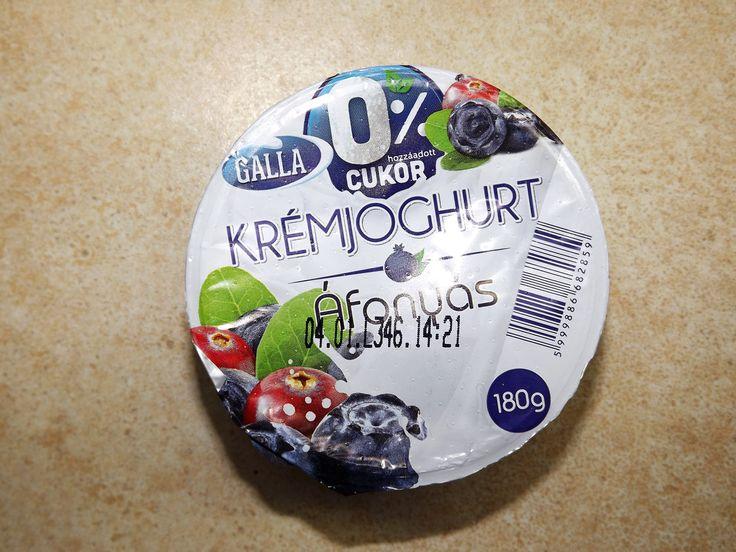 Galla áfonyás joghurt hozzáadott cukormentes
