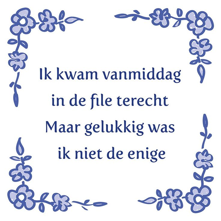 Tegeltjeswijsheid.nl - een uniek presentje - Ik kwam vanmiddag in de file terecht
