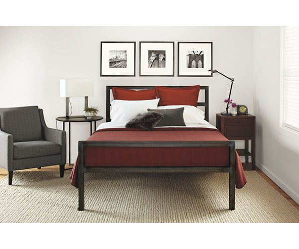 parsons bed cable queen beds and beds. Black Bedroom Furniture Sets. Home Design Ideas
