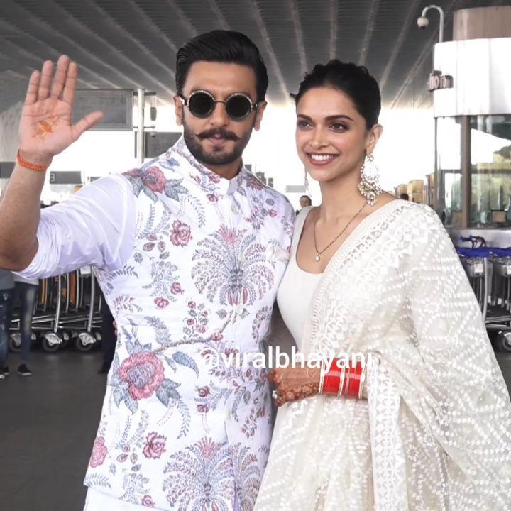 Instagram Video How Beautiful Newly Married Deepika Padukone N Ranveer Singh Land In Mumbai After Their Indian Wedding Nov 2018 Ranveer Deepika Post Wed