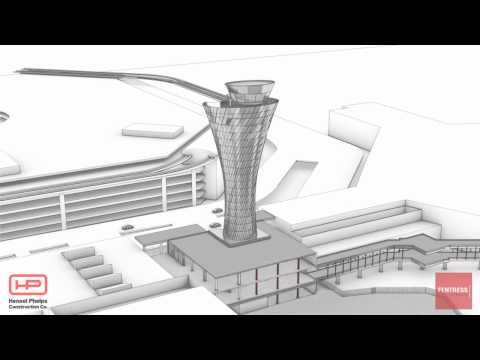 Virtual video of new SFO control tower in the making.